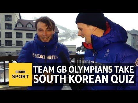 Winter Olympics: Team GB stars put their South Korea knowledge to the test - BBC Sport