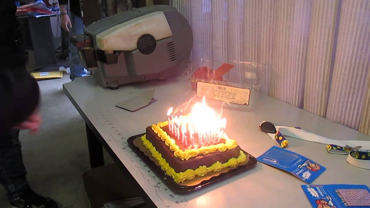 Birthday Cake With Relight Candles