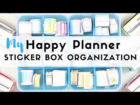 My New HAPPY PLANNER Sticker Box Storage...