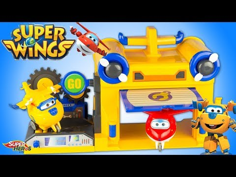 Super Wings Donnie's Workshop Atelier de Donnie Toy Review Jouets 출동슈퍼윙스 신제품 장난감 - 비행기 Super Hero