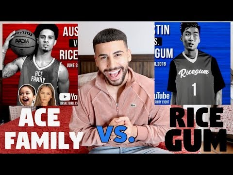 AM I PLAYING IN THE ACE FAMILY vs. RICEGUM BASKETBALL GAME?!