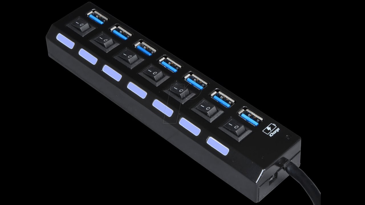 Satechi Premium Aluminum 7-Port USB 3.0 Hub - YouTube