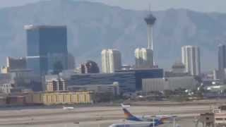 Aerial View of Las Vegas Strip Airplane Daytime Take-Off McCarran Airport