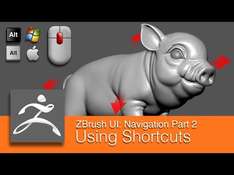 DART 153 Intro To ZBrush: Navigating Part 2 Using Shortcuts