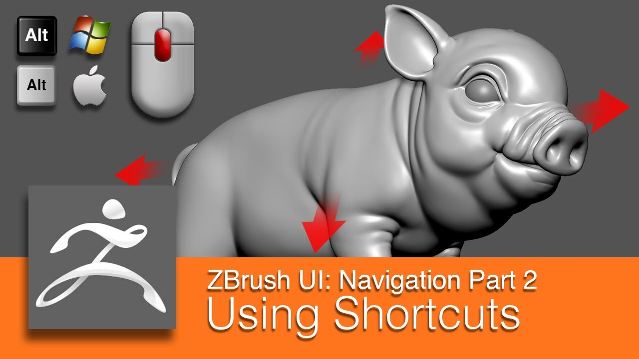 Dart 153 Intro To Zbrush Navigating Part 2 Using Shortcuts Youtube