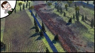 Huge 30000 Medieval France v England Battle of Agincourt - Ultimate Epic Battle Simulator Gameplay