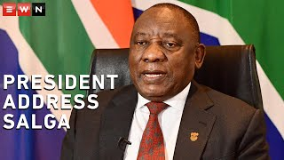 President Cyril Ramaphosa delivered the keynote address on the first day of the South African Local Government Association's (SALGA) two-day hybrid National Members Assembly (NMA).  #Ramaphosa