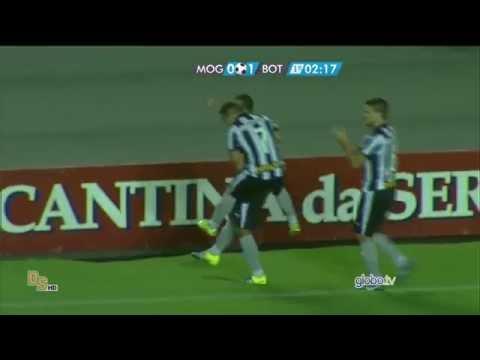 Gols Mogi Mirim 0 x 3 Botafogo - Brasileirão 2015 Série B