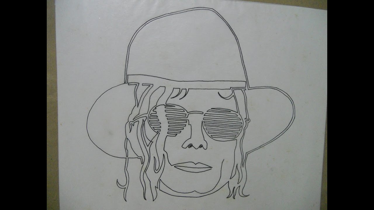 Line Drawing Face : Best single line drawing of michael jackson the great legendary