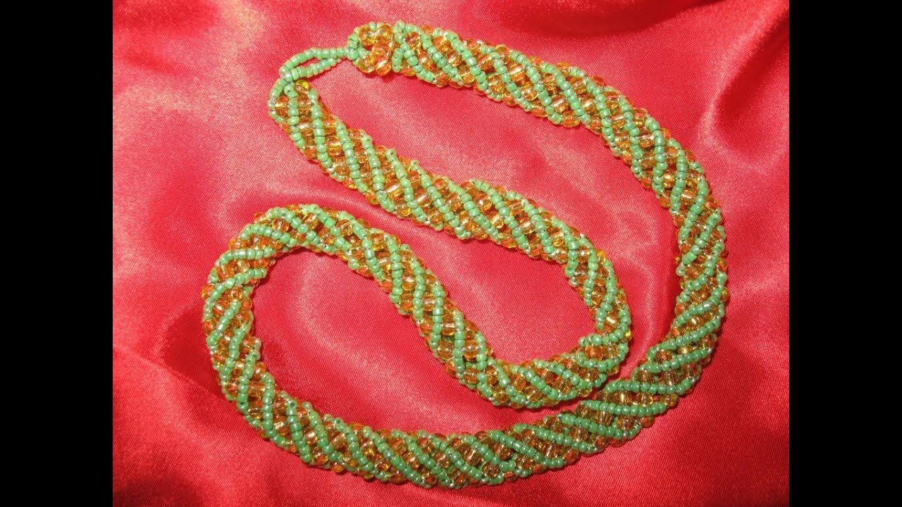 схема вышивки по шнуру бисером
