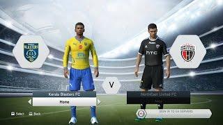 Kerala Blasters FC Vs NorthEast United FC ISL Gameplay   FIFA 15   RANDOMIZED