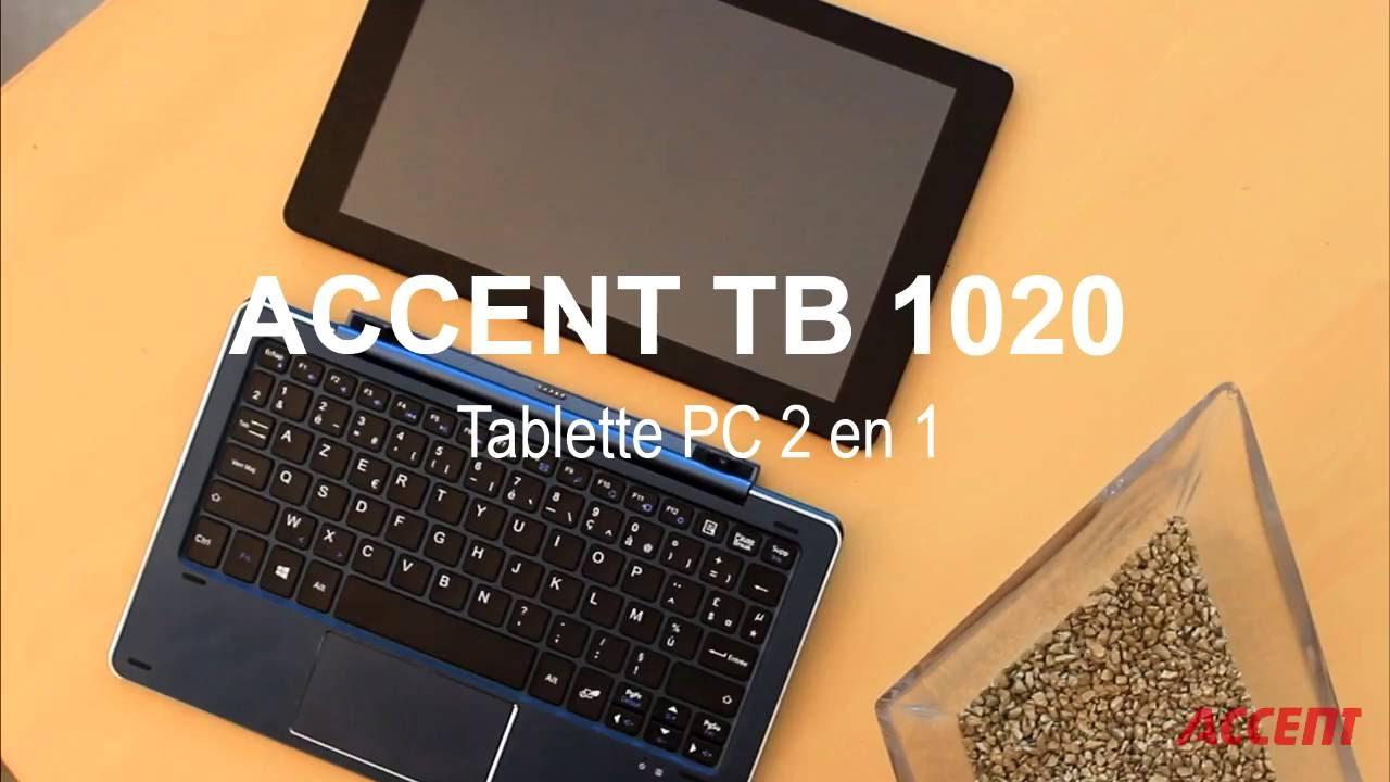accent tb 1020 tablette pc 2 en 1 youtube. Black Bedroom Furniture Sets. Home Design Ideas