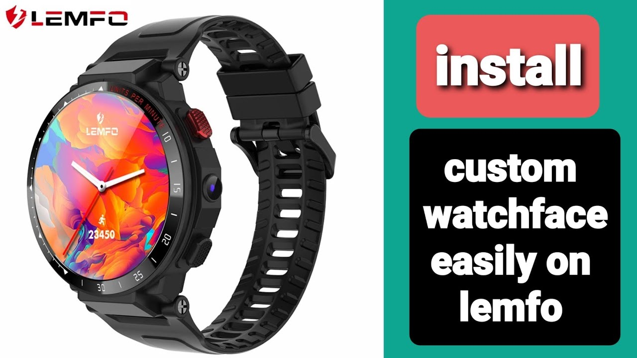 How to install custom watch face to lemfo watch and android Smartwatch kw88  microware, zeblaze thor