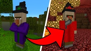 New Witch Boss Mobs in Minecraft Pocket Edition (Elemental Witches Addon)