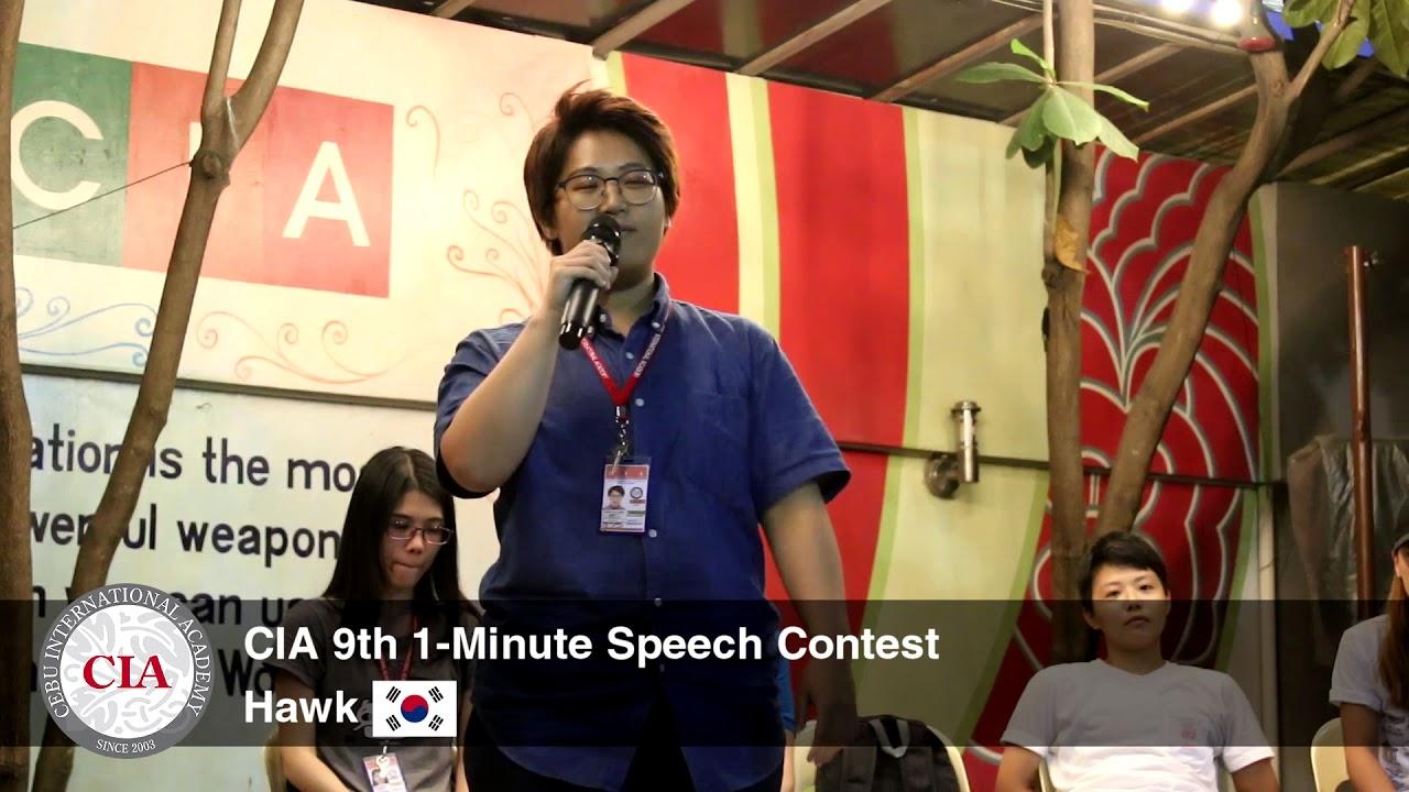 (English School in Cebu, Philippines) Cebu International Academy - 9th  1-Minute Speech (Hawk)