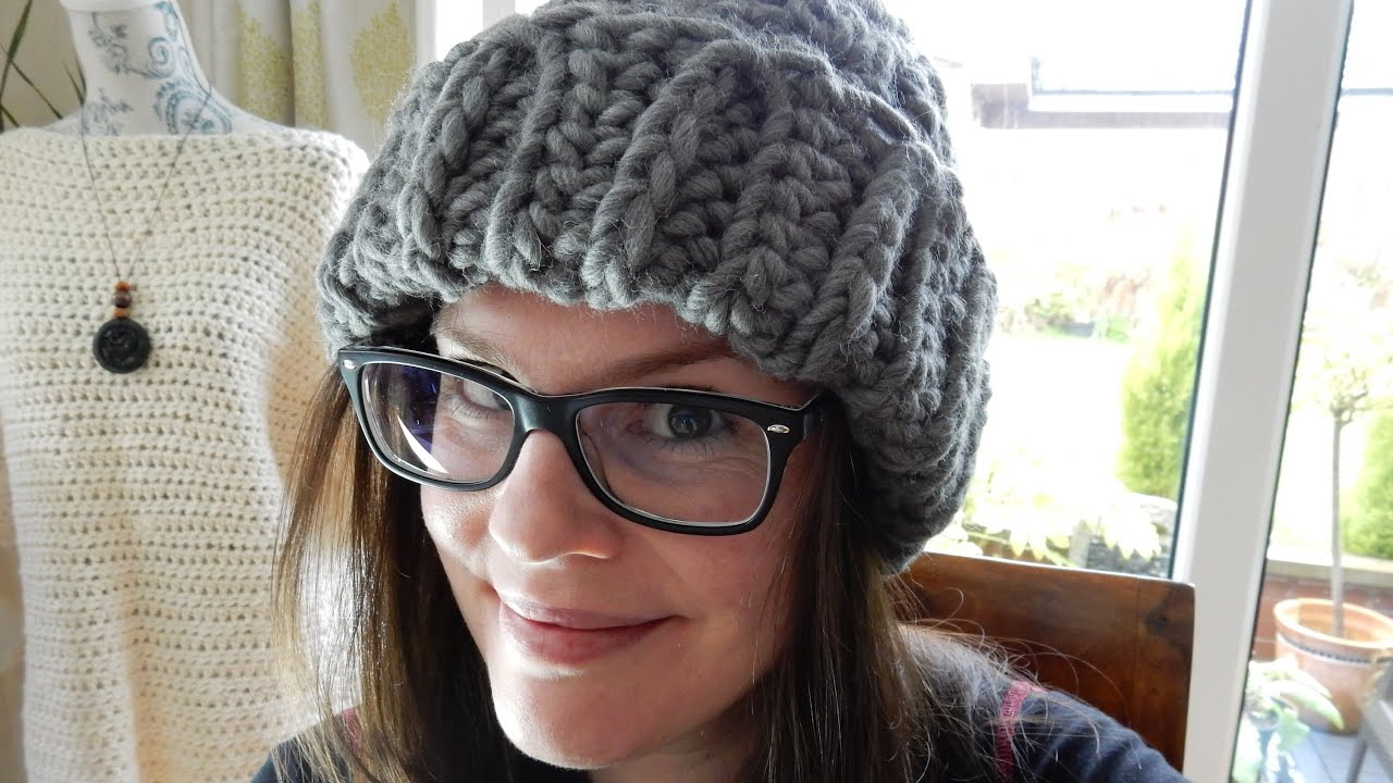 Crochet Knit Stitch Beanie (all sizes!) & WATG Yarn Review - YouTube