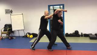 Release vs Pushing Choke from the Front, with Amnon Darsa at Institute Krav Maga Netherlands.
