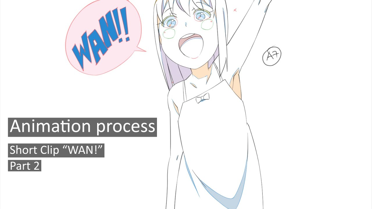 "Download Animation process | Short Clip ""WAN!"" Part 2  (In-between w/ RETAS Studio Styols)"