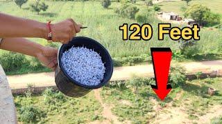 Dropping Pop Pop Crackers From 120 Feet Height    Pop Pop Crackers vs 120 Feet Water Tank