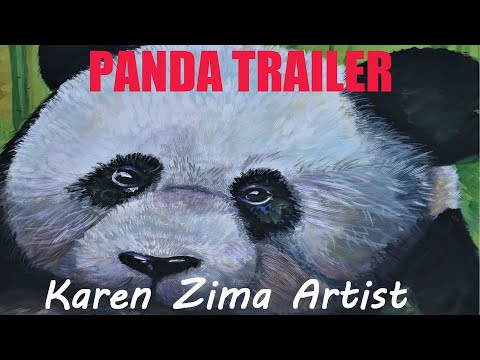 Free Art Lessons Panda Trailer Easy Pada Painting Intro To Larger Tutorial Painting With Oil Paints
