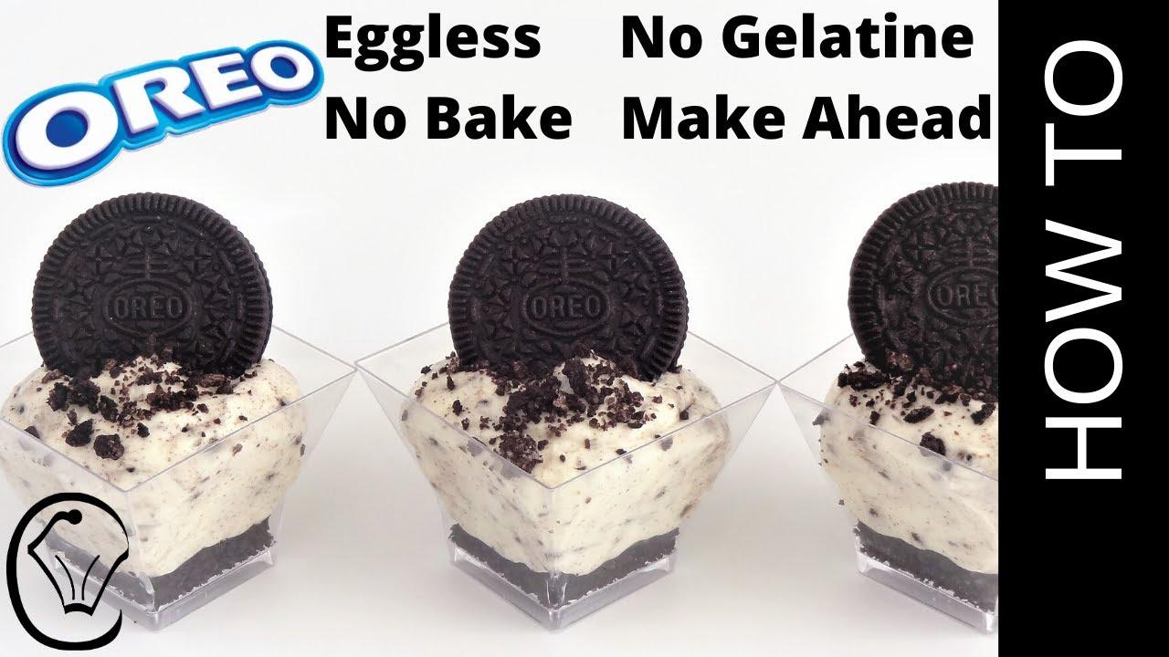 No Bake Mini Oreo Cookies And Cream Cheesecake Cups By