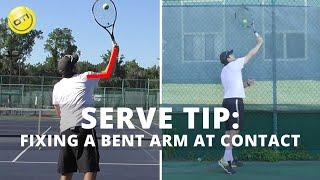 Serve Tip: Fixing A Bent Arm At Contact