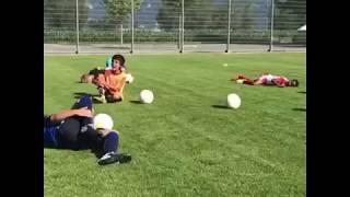 Kids training over-acting like Neymar