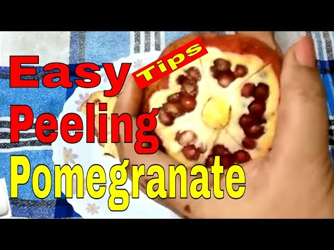 How to Cut Open Deseed Pomegranate - tutorial / Easiest Pomegranate cutting trick - Monikazz DIY