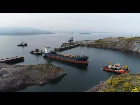 MV Kaami coming into Kishorn dry dock for dismantling and recycling - May'20