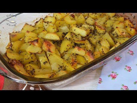 Patatas al horno para guarnición Para acompañar carnes y pescados, super fáciles!