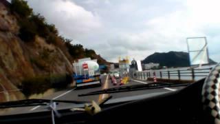 王子が岳から下山 430号を渋川海岸へ