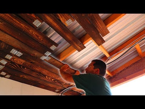 DIY Pallet Wood Ceiling | Off-Grid Solar Shed Project