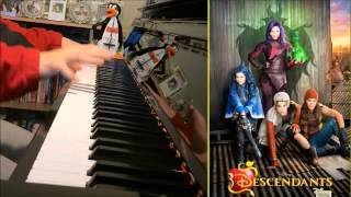 "Descendants Cast - Rotten To The Core [""Descendants"" Disney] (Amosdoll Piano Cover)"