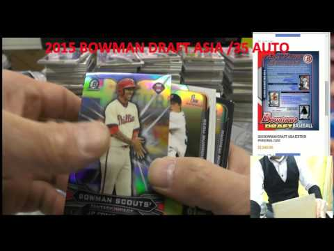 KAZUTOKYO #LISA 1CASE MLB 2015 BOWMAN DRAFT JUMBO ASIA PERSONAL BREAKS 2015/12/21