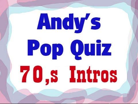 Pop Quiz No82 - 20 x 70s Intros.