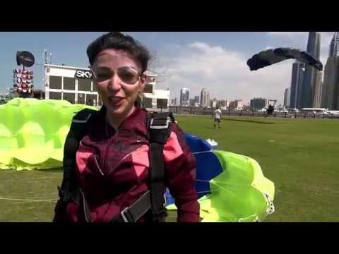 AYAN AGHAYEVA SKYDIVE DUBAI 24.02.2015