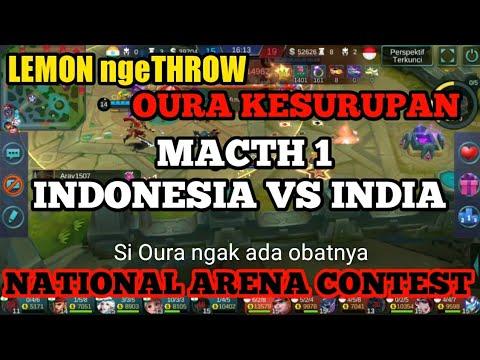 INDONESIA VS INDIA !WAKTUNYA ngeTHROW 13/3/2018 MOBILE LEGEND