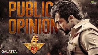 Si 3 Public Opinion | Suriya | Anushka | Shruti Haasan