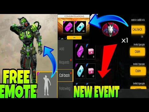 FREE DIAMOND,WEAPON ROYAL VOUCHER || FREE EMOTE FOR ALL - HOW TO CALL BACK  WITH PROOF || NEW EVENT