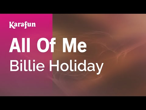 Karaoke All Of Me  Billie Holiday *