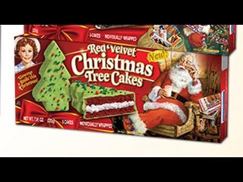 Little Debbie Red Velvet Christmas Tree Cakes - YouTube