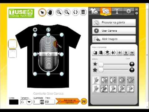 1710802951 Tutorial T.USE - Como Fazer sua camiseta online - YouTube