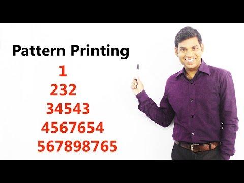 1 232 34543 4567654 567898765 Pattern Printing in C (HINDI)