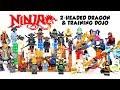 Ninjago Training Dojo & Two-Headed Dragon Unofficial LEGO Minifigures