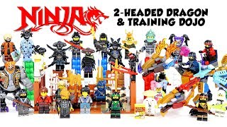 Ninjago Training Dojo & Two-Headed Dragon Unofficial LEGO Minifigures