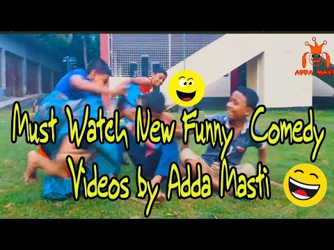 Must Watch New Funny 😂 😂 Comedy Videos By Adda Masti ।। Best Funny Video