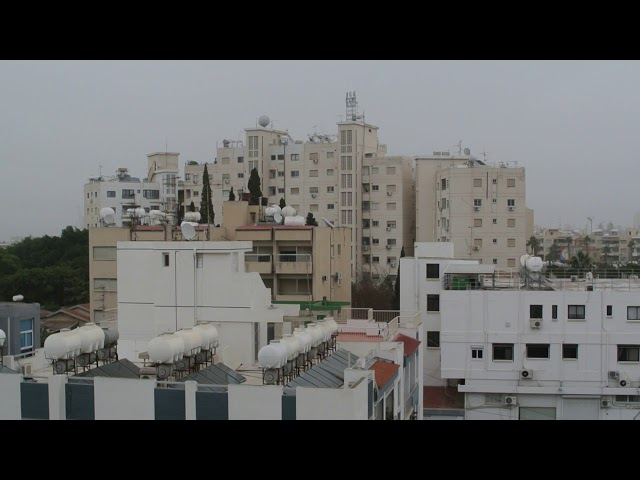 Sandstorm over Larnaca