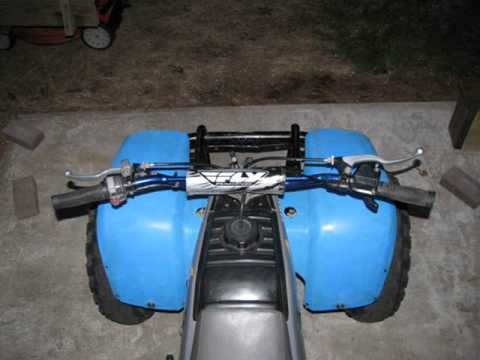 Yamaha moto 4 restoration and modification part 3 youtube for Yamaha badger 80 tires