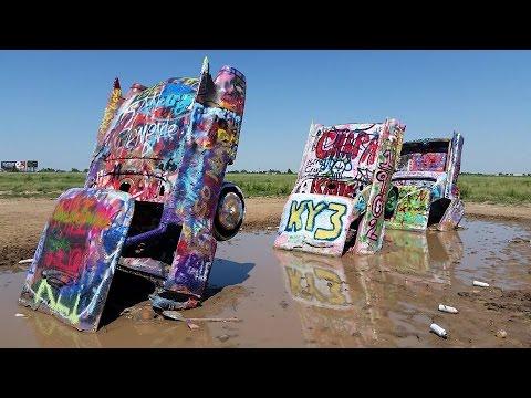 Amarillo Stops Along Route 66 Big Texan Cadillac Ranch Youtube