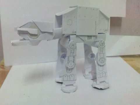 star wars imperial walker at at papercraft model youtube. Black Bedroom Furniture Sets. Home Design Ideas